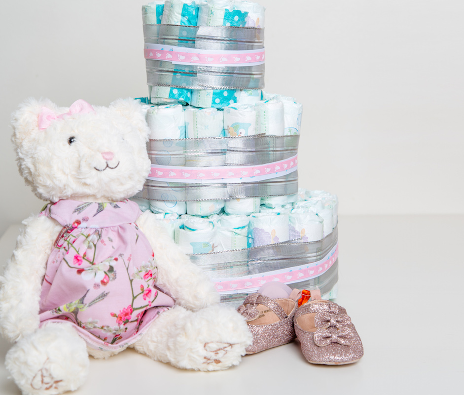 jmm baby girl three tier diaper cake-95